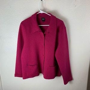 Eileen Fisher Jacket Wool Hot Pink